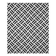 Woven2 Black Marble & White Linen Shower Curtain 60  X 72  (medium)  by trendistuff