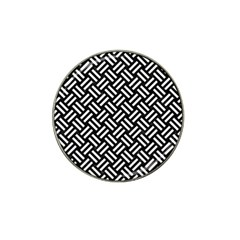 Woven2 Black Marble & White Linen (r) Hat Clip Ball Marker (10 Pack) by trendistuff