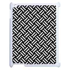 Woven2 Black Marble & White Linen (r) Apple Ipad 2 Case (white) by trendistuff