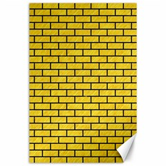 Brick1 Black Marble & Yellow Colored Pencil Canvas 24  X 36  by trendistuff