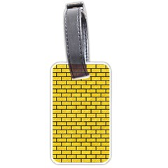 Brick1 Black Marble & Yellow Colored Pencil Luggage Tags (two Sides) by trendistuff