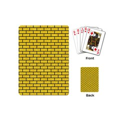 Brick1 Black Marble & Yellow Colored Pencil Playing Cards (mini)  by trendistuff