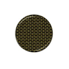 Brick1 Black Marble & Yellow Colored Pencil (r) Hat Clip Ball Marker by trendistuff