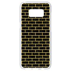 Brick1 Black Marble & Yellow Colored Pencil (r) Samsung Galaxy S8 White Seamless Case by trendistuff