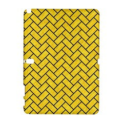 Brick2 Black Marble & Yellow Colored Pencil Galaxy Note 1 by trendistuff