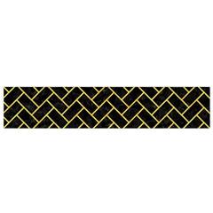 Brick2 Black Marble & Yellow Colored Pencil (r) Small Flano Scarf by trendistuff