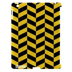 Chevron1 Black Marble & Yellow Colored Pencil Apple Ipad 3/4 Hardshell Case (compatible With Smart Cover)