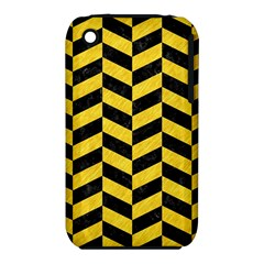 Chevron1 Black Marble & Yellow Colored Pencil Iphone 3s/3gs by trendistuff