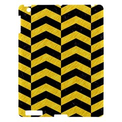 Chevron2 Black Marble & Yellow Colored Pencil Apple Ipad 3/4 Hardshell Case by trendistuff
