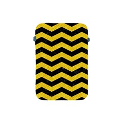 Chevron3 Black Marble & Yellow Colored Pencil Apple Ipad Mini Protective Soft Cases by trendistuff