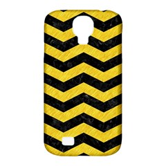 Chevron3 Black Marble & Yellow Colored Pencil Samsung Galaxy S4 Classic Hardshell Case (pc+silicone) by trendistuff