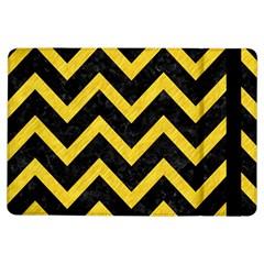 Chevron9 Black Marble & Yellow Colored Pencil (r) Ipad Air Flip