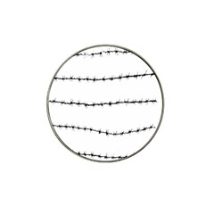 Barbed Wire Black Hat Clip Ball Marker by Mariart