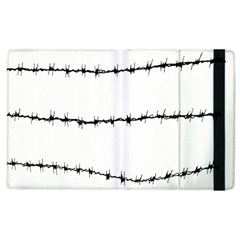 Barbed Wire Black Apple Ipad 2 Flip Case by Mariart