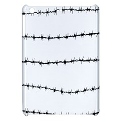 Barbed Wire Black Apple Ipad Mini Hardshell Case by Mariart