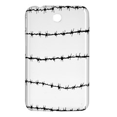 Barbed Wire Black Samsung Galaxy Tab 3 (7 ) P3200 Hardshell Case  by Mariart