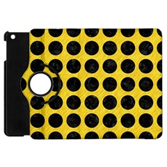 Circles1 Black Marble & Yellow Colored Pencil Apple Ipad Mini Flip 360 Case by trendistuff