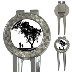 Black Father Daughter Natural Hill 3 In 1 Golf Divots by Mariart