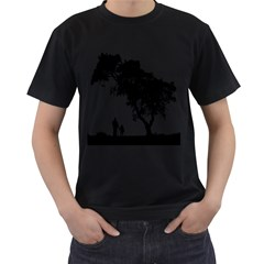 Black Father Daughter Natural Hill Men s T Shirt (black)