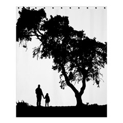 Black Father Daughter Natural Hill Shower Curtain 60  X 72  (medium)  by Mariart