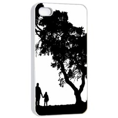 Black Father Daughter Natural Hill Apple Iphone 4/4s Seamless Case (white) by Mariart