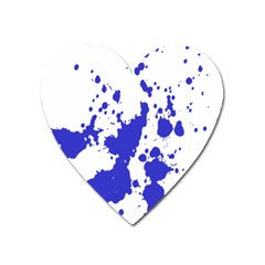 Blue Plaint Splatter Heart Magnet by Mariart