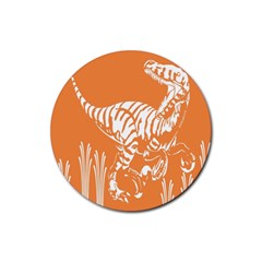 Animals Dinosaur Ancient Times Rubber Coaster (round)