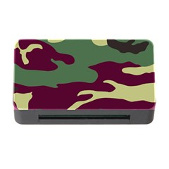 Camuflage Flag Green Purple Grey Memory Card Reader With Cf by Mariart