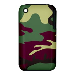 Camuflage Flag Green Purple Grey Iphone 3s/3gs by Mariart