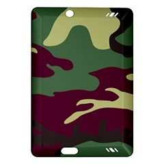 Camuflage Flag Green Purple Grey Amazon Kindle Fire Hd (2013) Hardshell Case by Mariart