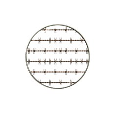 Barbed Wire Brown Hat Clip Ball Marker (10 Pack) by Mariart
