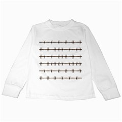 Barbed Wire Brown Kids Long Sleeve T Shirts by Mariart