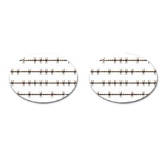 Barbed Wire Brown Cufflinks (oval) by Mariart