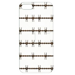 Barbed Wire Brown Apple Iphone 5 Hardshell Case With Stand by Mariart