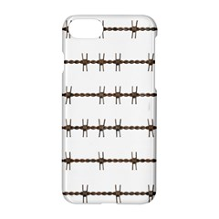 Barbed Wire Brown Apple Iphone 7 Hardshell Case by Mariart