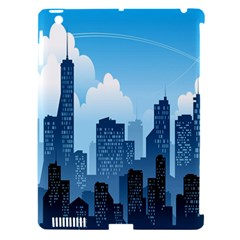 City Building Blue Sky Apple Ipad 3/4 Hardshell Case (compatible With Smart Cover) by Mariart