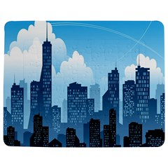 City Building Blue Sky Jigsaw Puzzle Photo Stand (rectangular) by Mariart