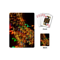 Christmas Tree Light Color Night Playing Cards (mini)  by Mariart