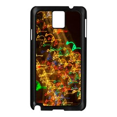 Christmas Tree Light Color Night Samsung Galaxy Note 3 N9005 Case (black) by Mariart