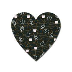 Espresso Cofee Glass Line Chevron Heart Magnet by Mariart