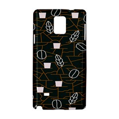 Espresso Cofee Glass Line Chevron Samsung Galaxy Note 4 Hardshell Case by Mariart