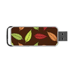 Autumn Leaves Pattern Portable Usb Flash (one Side) by Mariart