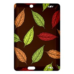 Autumn Leaves Pattern Amazon Kindle Fire Hd (2013) Hardshell Case by Mariart