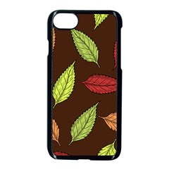 Autumn Leaves Pattern Apple Iphone 8 Seamless Case (black) by Mariart