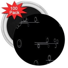 Feedback Loops Motion Graphics Piece 3  Magnets (100 Pack) by Mariart