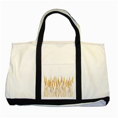 Wheat Plants Two Tone Tote Bag by Mariart