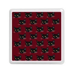 Face Cat Animals Red Memory Card Reader (square)  by Mariart