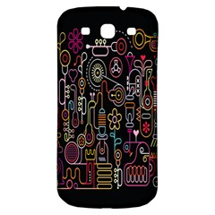 Features Illustration Samsung Galaxy S3 S Iii Classic Hardshell Back Case by Mariart