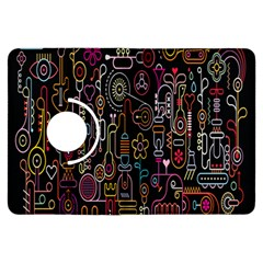 Features Illustration Kindle Fire Hdx Flip 360 Case by Mariart