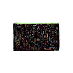 Features Illustration Cosmetic Bag (xs) by Mariart